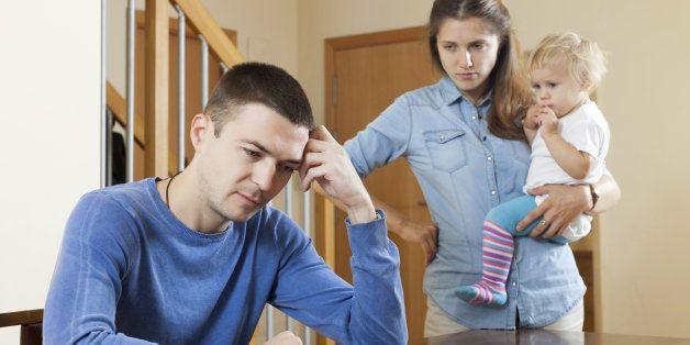 Family quarrel at living room