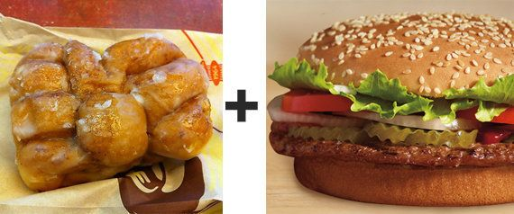 The sweetness of the fritter ... the classic broiled burger. Together at last.
