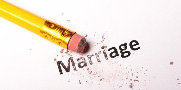 divorce concept with marriage...
