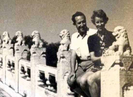 Shortly after arriving in China, Dr. Holzer met the daughter of American missionaries. They were married weeks later. Photo C