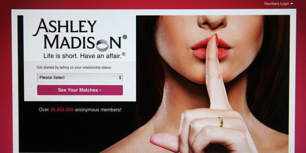LONDON, ENGLAND - AUGUST 19:  The Ashley Madison website is displayed on August 19, 2015 in London, England. Hackers who stole customer information from the cheating site AshleyMadison.com dumped 9.7 gigabytes of data to the dark web on Tuesday fulfilling a threat to release sensitive information including account details, log-ins and credit card details, if Avid Life Media, the owner of the website didn't take Ashley Madison.com offline permanently.  (Photo by Carl Court/Getty Images)