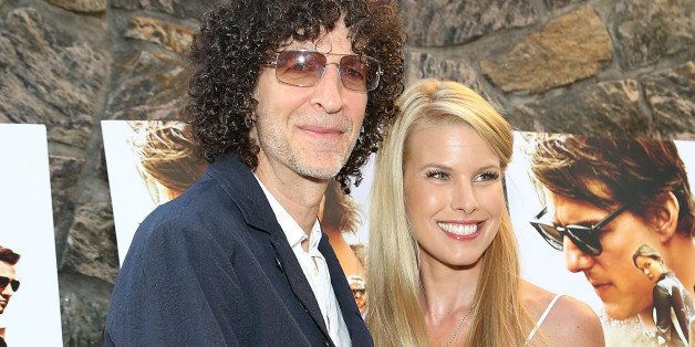 EAST HAMPTON, NY - JULY 24:  Howard Stern (L) and Beth Ostrosky Stern attend the 'Mission: Impossible - Rogue Nation' Special Screening Hosted By Alec Baldwin, Arrivals at United Artists East Hampton Cinema on July 24, 2015 in East Hampton, New York.  (Photo by Monica Schipper/Getty Images for Paramount Pictures Studios)