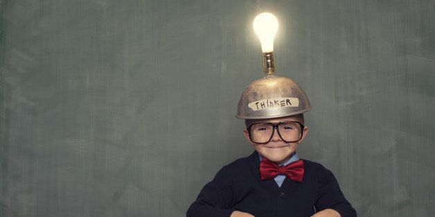 This young boy has thought of the next big idea.