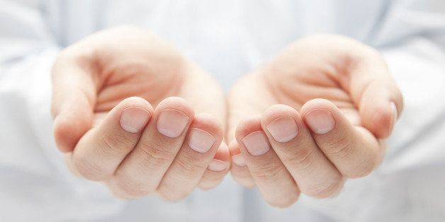 open hands. holding  giving ...