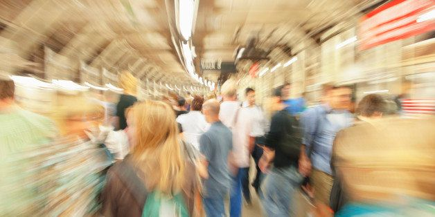 Crowds in New York City Subway