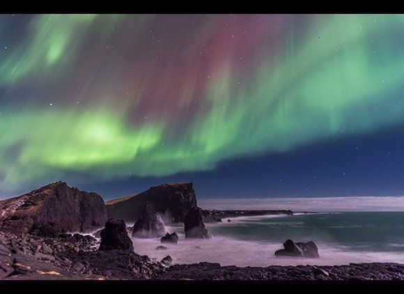 """The Northern Lights, extreme <a href=""""http://www.smartertravel.com/photo-galleries/editorial/seven-epic-walking-trails-around"""