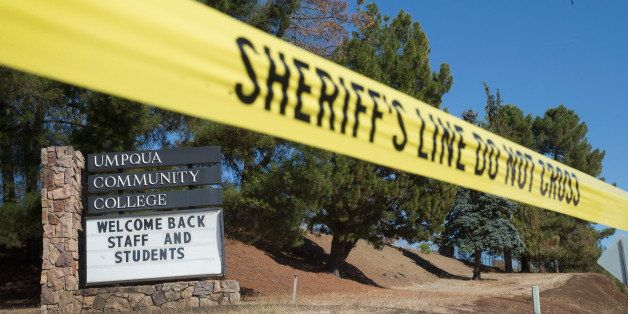 ROSEBURG, OR - OCTOBER 05:  A sign at the edge of campus welcomes students and staff back to Umpqua Community College on October 5, 2015 in Roseburg, Oregon. Despite crime scene tape still being stretched around large areas of the school, the campus was open to staff and students today for the first time since last Thursday when 26-year-old Chris Harper-Mercer went on a shooting rampage killing nine people and wounding another nine before he was killed. Classes are not scheduled to resume until next week.  (Photo by Scott Olson/Getty Images)