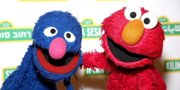 NEW YORK, NY - MAY 27:  Sesame Street Muppets 'Grover' and 'Elmo' attends the Sesame Workshop's 13th Annual Benefit Gala at Cipriani 42nd Street on May 27, 2015 in New York City.  (Photo by Paul Zimmerman/WireImage)