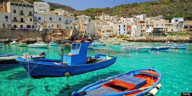 Egadi Islands in Mediterranean Sea west of Sicily.