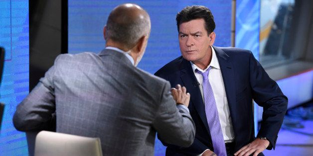 TODAY -- Pictured: (l-r) Matt Lauer, Charlie Sheen -- (Photo by: Peter Kramer/NBC/NBCU Photo Bank via Getty Images)