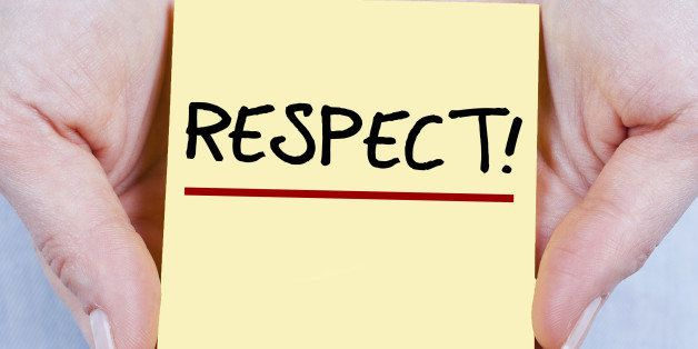 RESPECT! note in hands - square