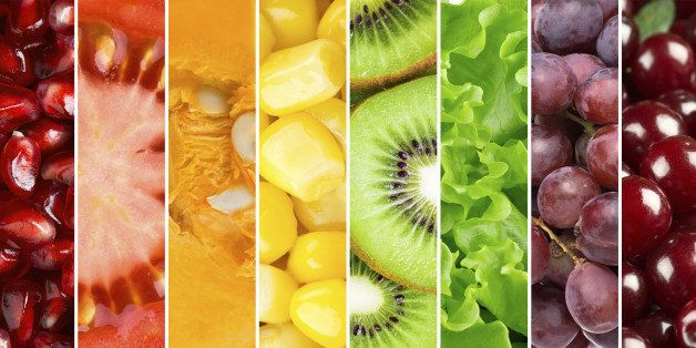 Healthy food background. ᅢミᅡᄀollection with different fruits, berries and vegetables