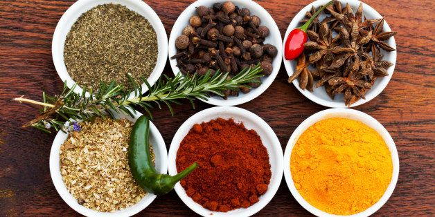 Cropped shot of an assortment of colorful spices