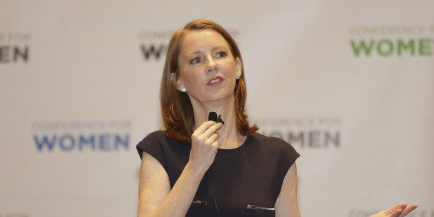 PHILADELPHIA, PA - NOVEMBER 19:  Author Gretchen Rubin speaks during  'Better Than Before: Mastering Our Habits' session at Pennsylvania Conference For Women at Pennsylvania Convention Center on November 19, 2015 in Philadelphia, Pennsylvania.  (Photo by Marla Aufmuth/Getty Images for Pennsylvania Conference for Women)
