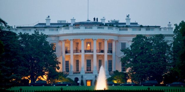 Nighttime view of the White House, Washington D.C.