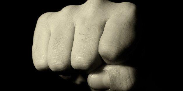 portrait of a man's fist  hand  ...