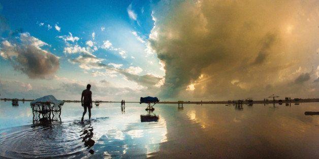 Marina beach, India.