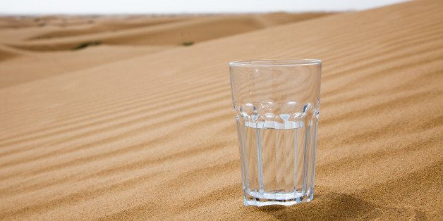 glass of water half empty on...