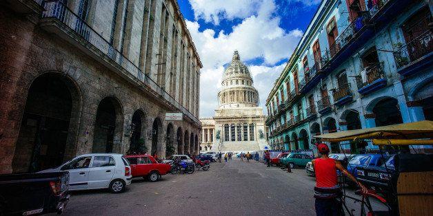 HAVANA, CUBA - DECEMBER 17: A general view of El Capitolio on December 17, 2014 in Havana, Cuba. (Photo by Ben Pruchnie/Getty Images)