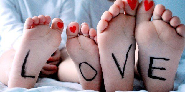 tiny feet, big love, writing, kids, hearts, siblings, brother and sister, valentine, LOVE, toes,