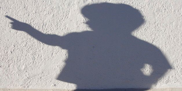 Germany, Bavaria, Schaeftlarn, Shadow of child sculpture on wall