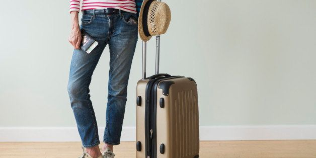 USA, New Jersey, Woman ready to go on vacations