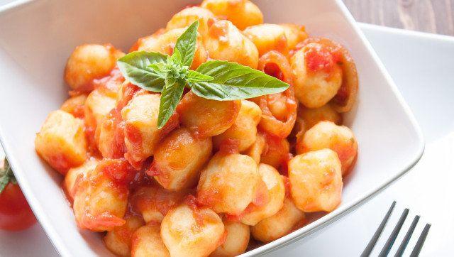 homemade gnocchi with tomato...