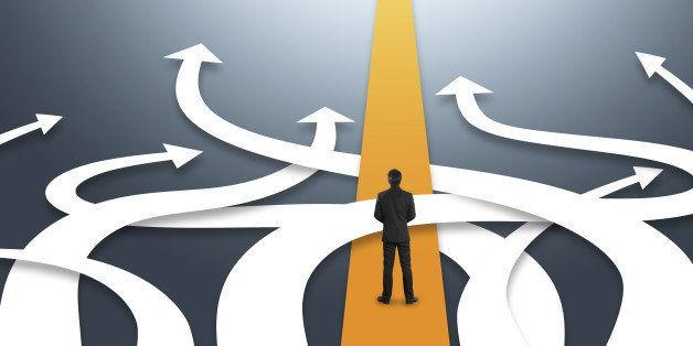 Concept of confused business with different directions