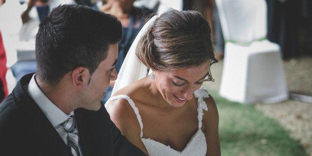 A couple on their wedding