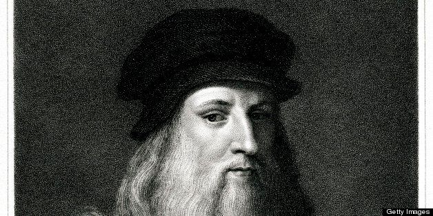Engraving From 1834 Featuring The Italian Renaissance Painter And Scientist, Leonardo Da Vinci.