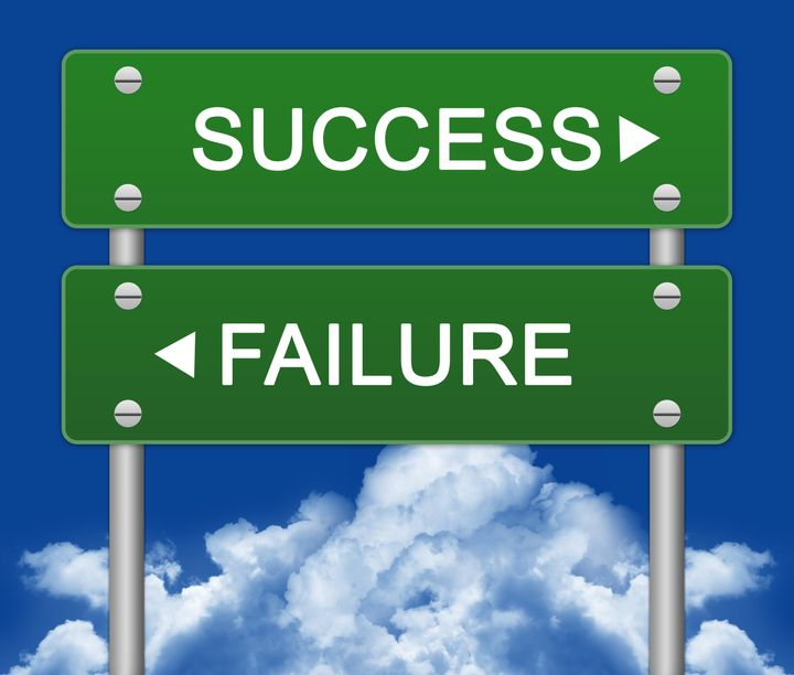 success or failure traffic sign ...