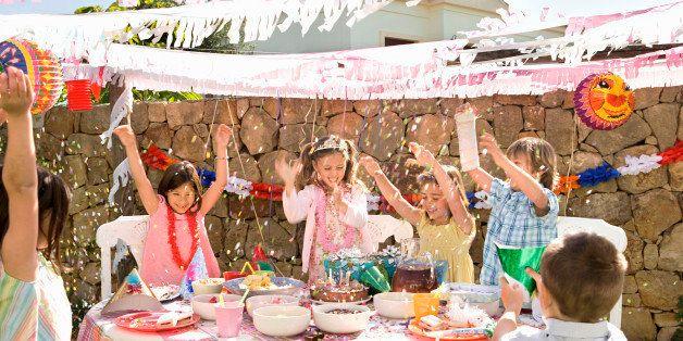 Children at birthday party