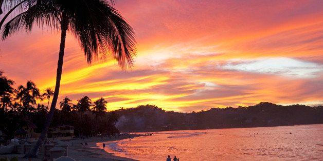 sunset in sayulita, mexico