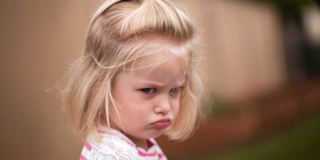 Frustrated little toddler