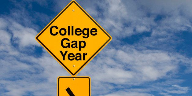 A sign that says 'College Gap Year.'