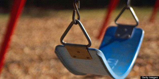 Isolated Park Swing