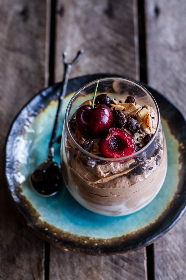 "<strong>Get the <a href=""http://www.halfbakedharvest.com/chocolate-tahini-mocha-mousse-wcoconut-bubble-milk-chocolate-express"
