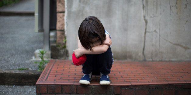 Sad Japanese girl.