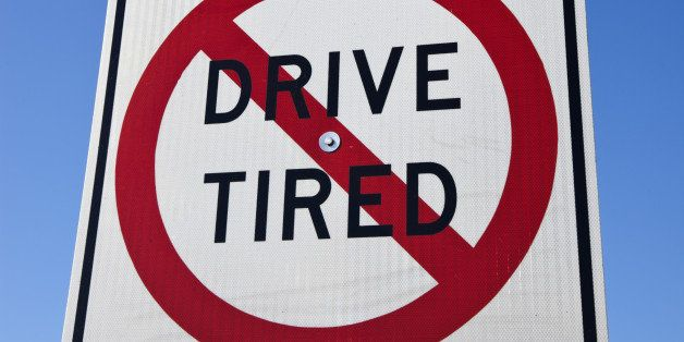 Don't drive tired - road sign seen on the highway