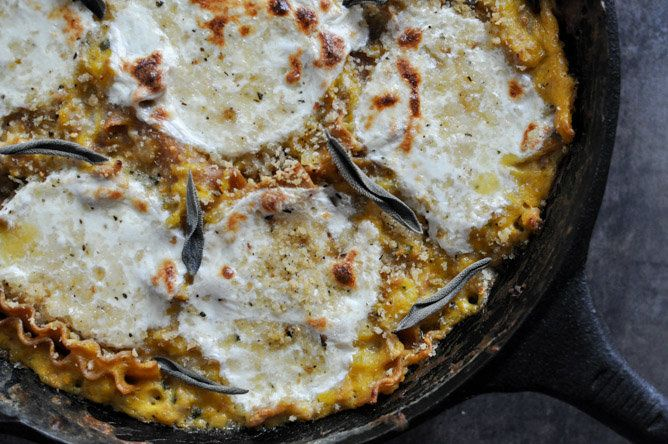 Butternut Squash Skillet Lasagna from How Sweet Eats