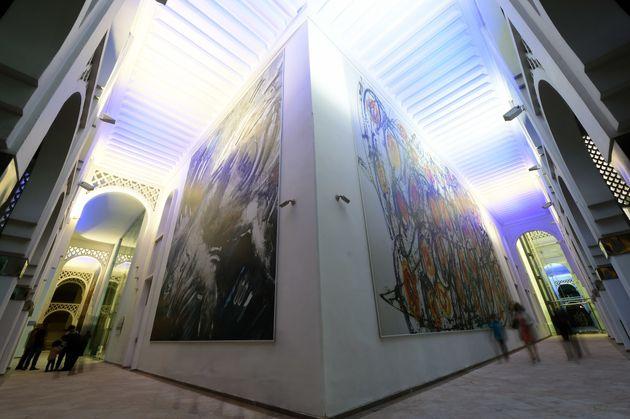 Le musée Mohammed VI d'art moderne et contemporain (MMVI) à Rabat, octobre