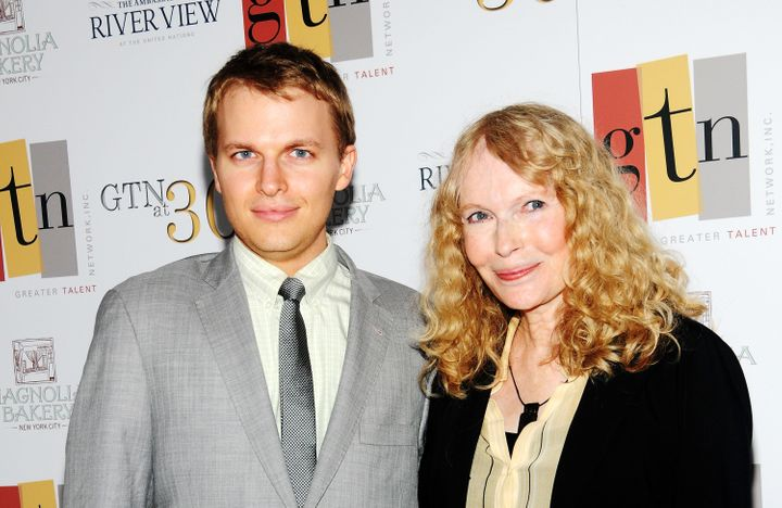 Ronan Farrow and mother Mia Farrow in 2012.