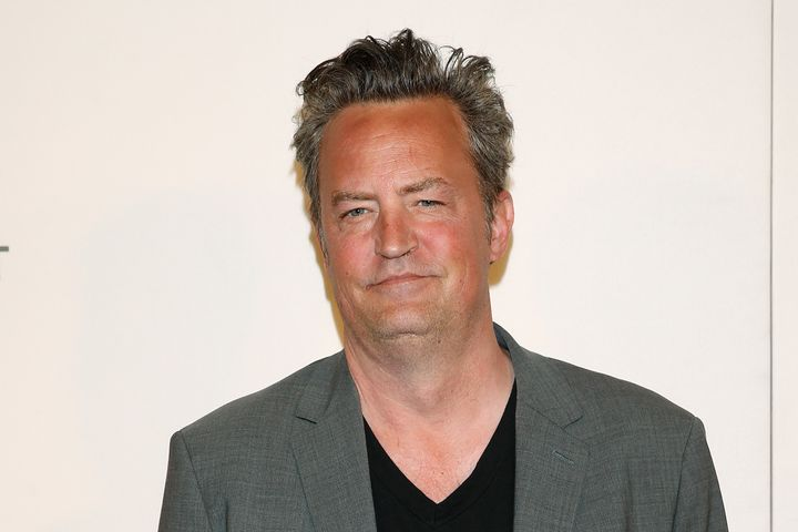 Matthew Perry, pictured in April 2017, said he was in a hospital bed for several months.