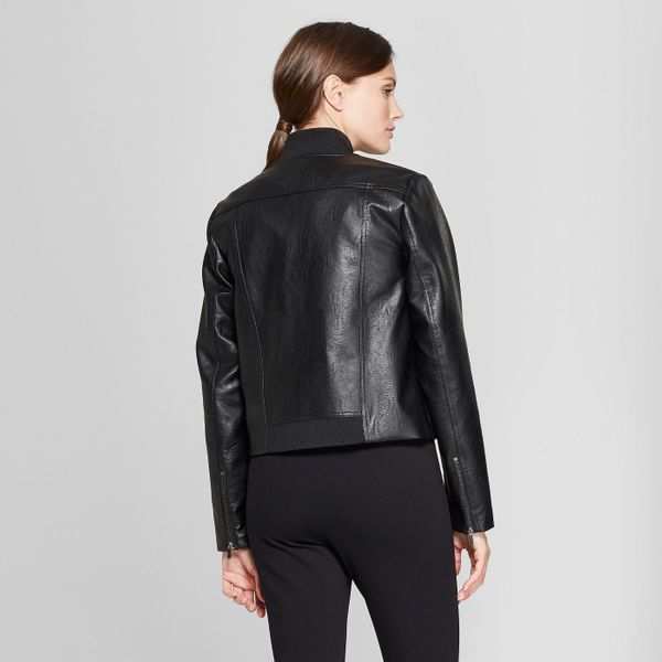 "<strong>Sizes</strong>: XS to XXL<br>Get it at <a href=""https://www.target.com/p/women-s-long-sleeve-collared-moto-jacket-pro"