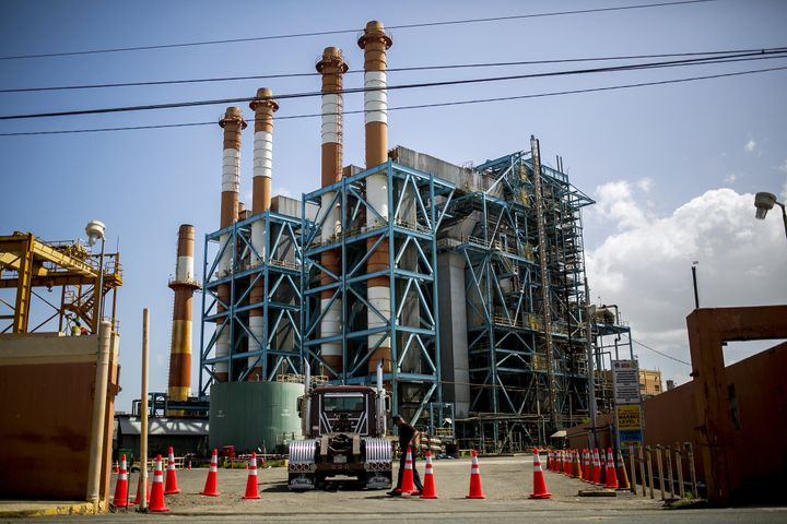 The oil-burning Palo Seco power plant in Toa Baja, Puerto Rico.