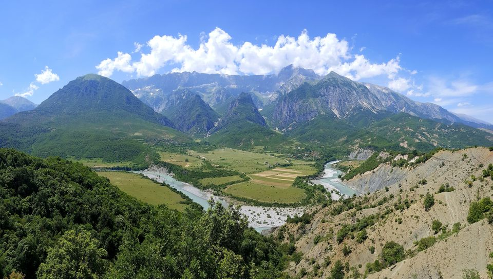 The Vjosa River in south Albania, near the Greek border, is one of Europe's last living wild