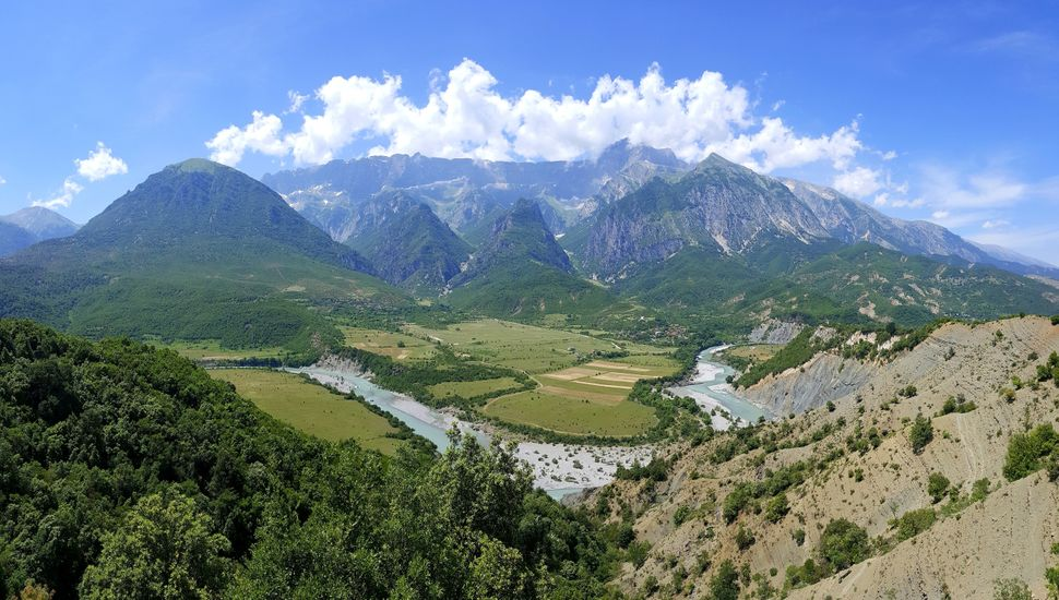The Vjosa River in south Albania, near the Greek border, is one of Europe's last living wild rivers.
