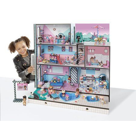 "Get it at <a href=""https://www.walmart.com/ip/L-O-L-Surprise-House-with-85-Surprises/241774962"" target=""_blank"">Walmart</a>,"