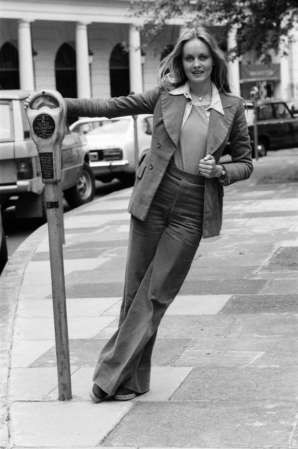 Model and actress Twiggy in London.