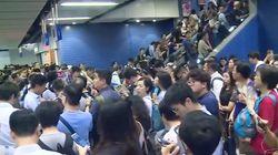 Typhoon Mangkhut Causes Hong Kong Subway